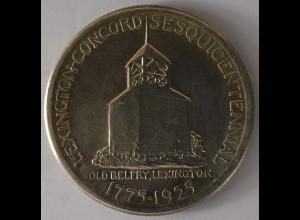 Amerika USA 1/2 Dollar 1925, Glockenturm, Lexigton, Freiwilliger, Silber, ST