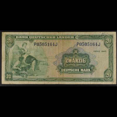Bundesrepublik Deutschland, Bank Deutscher Länder, 22.8.1949, 20 DM Ro. 260