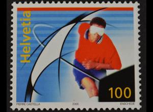 Schweiz 2005 Michel Nr. 1925 Fußball EM 2008 Behindertenfußball tolle Briefmarke