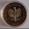Polen 1991 20.000 Zlotych Zloty Bimetallmünze Wappen König Stanislaus PP