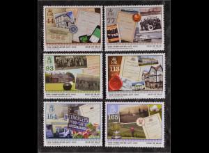 Insel Man, Isle of Man 2015 Michel Nr. 2081-86 150 Jahre Rechte von Firmen