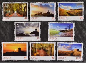 Jersey 2015 Michel Nr. 1968-75 Herbst Sonnenunter- aufgang Wald Landschaft