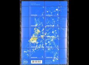 Niederlande 2015 Michel Nr. 3407-16 Beleuchtung Stromnetz in den Niederlanden