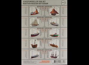 Niederlande 2015 Michel Nr. 3397-3406 Schiffsmodelle Vissersboot Klipper