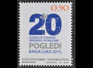 Bosnien Herzegowina Serbische Republik 2015 Nr. 665 20 Jahre Dayton Abkommen