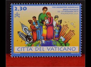 Vatikan Cittá del Vaticano 2015, Mi. Nr. 1845, Weltfamilientreffen Philadelphia