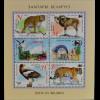 Weißrussland Belarus 2013 Block 105 Tiere in zoologischen Gärten Tiger Leopard
