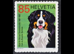 Schweiz 2007 Michel Nr. 2001 100 Jahre Schweizer Klub für Berner Sennenhunde