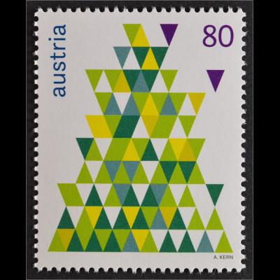 sterreich austria 2015 michel nr 3239 weihnachten tannenbaum moderne kunst briefmarkenhaus engel. Black Bedroom Furniture Sets. Home Design Ideas