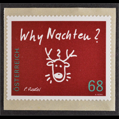 Österreich Austria 2015 Michel Nr. 3242 Weihnachten Why Nachten ? Rentier