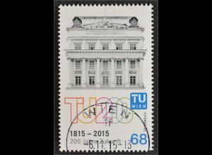 Österreich 2015 Michel Nr. 3237 200 Jahre Technische Universität 1815-2015