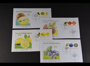 Bund BRD Ersttagsbrief FDC Michel Nr. 2769-72, Wohlfahrtspflege, 02.01.2010