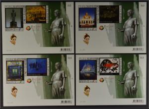 Thailand 2013, Block 309-12, Zeitgenössische Kunst, Gemälde, siehe Beschreibung