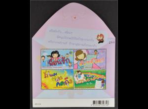 "Thailand 2013, Block 318, Int.Briefwoche, Mädchen; Inschrift ""Lieber Freund"" ..."