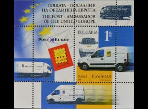 Bulgarien Bulgaria 2006, Block 287, Briefmarkenausstellung BELGICA, Postauto