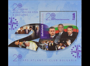 Bulgarien Bulgaria 2011, Block 338, 20 Jahre Atlantischer Club in Bulgarien