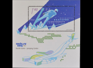 Bulgarien Bulgaria 2014, Block 381, Olympische Winterspiele Sotschi, Skispringen