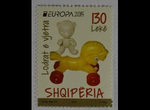 Albanien 2015 Michel Nr. 3486 Historisches Spielzeug Europa Rollpferd Teddybär