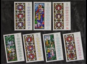 Alderney 2015 MiNr. 539-45 Weihnachten Kirchenfenster Jesus mit Christkind
