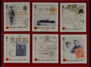 Guernsey 2015 Nr. 1547-52 Der Erste Weltkrieg Kriegsteilnehmer aus Postdienst