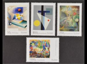 Island 2015 Nr. 1476-79 Isländische Kunst VI Gemälde Moderne Kunst