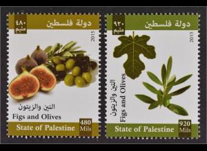 Palästina State of Palestine 2015 Nr. 340-41 Feigen und Oliven Olivenhain