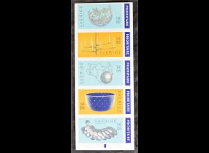 Schweden Sverige 2015 Michel Nr. 3083-87 Eisen und Silberschmiedearbeiten aus MH