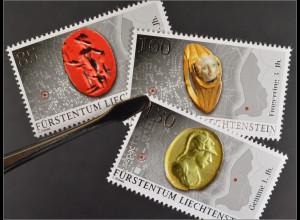 Liechtenstein 2015 Michel Nr. 1779-81 Archäologische Funde Schmuck aus Römerzeit