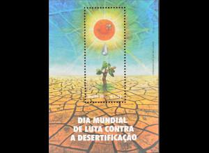 Brasilien Brasil 1996 Block 103 Tag gegen die Ausbreitung der Wüsten Sonne