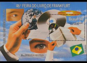 Brasilien Brasil 1994 Block 94 Frankfurter Buchmesse CD-ROM Buch Bildplatte