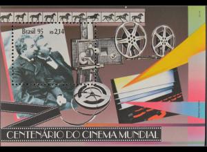 Brasilien Brasil 1995 Block 97 100 Jahre Kino cinema