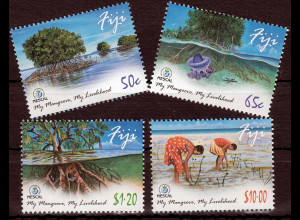 Fidschi Inseln FIJI 2014 Neuausgabe, Mangroven, kpl. Satz mit 4 Werten