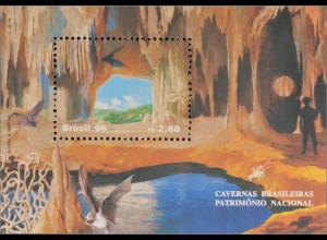 Brasilien Brasil 1996 Block 102 Höhlen Tropfsteinhöhle Fledermaus