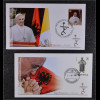 Vatikan Papstreisebelege FDC Papst Franziskus 21. September 2014 Albanien