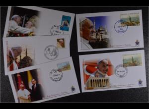 Vatikan Papstreisebelege FDC Papst Franziskus 28. bis 30. November 2014 Türkei
