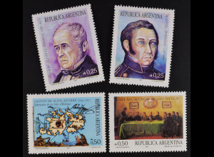 Argentinien Argentina 1987 MiNr. 1896-99 Historische Ereignisse