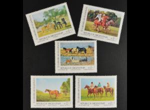 Argentinien Argentina 1988 MiNr. 1936-40 Gemälde Pferde