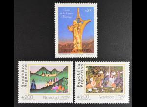 Argentinien Argentina 1989 MiNr. 2005-7 Weihnachten Krippe