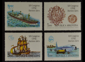 Argentinien Argentina 1990 MiNr. 2034-37 Kongreß Amerik.-Span. Postvereins
