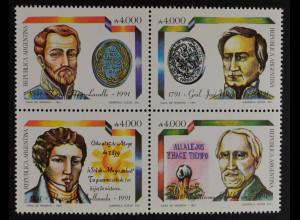 Argentinien Argentina 1991 Michel Nr. 2105-08 Jahrestage