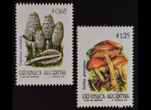 Argentinien Argentina 1992 Michel Nr. 2147-48 Pilze mushrooms