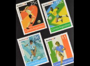 Argentinien Argentina 1994 Michel Nr. 2199-2202 Fußball-Weltmeisterschaft USA
