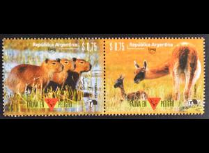 Argentinien Argentina 1996 Michel Nr. 2303-04 Amerika 1995 Naturschutz