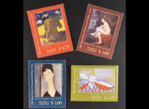 Argentinien Argentina 1996 MiNr. 2331-34 Nationalmuseum d. schönen Künste