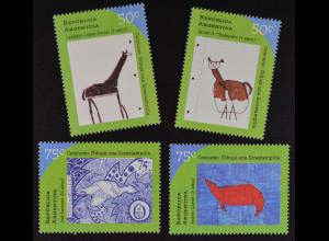 Argentinien Argentina 1997 MiNr. 2381-84 Kinder Zeichenwettbewerb Ökologie