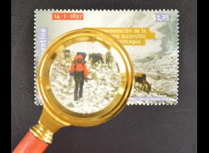 Argentinien Argentina 1998 Michel Nr. 2394 100 J. Erstbesteigung des Aconcagua
