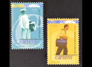 Argentinien Argentina 1998 Michel Nr. 2401-02 Amerika 1997 Der Postbote