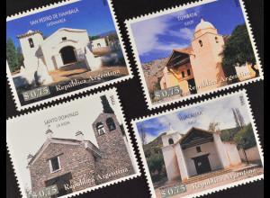 Argentinien 1998 Michel Nr. 2407-10 Historische Kapellen