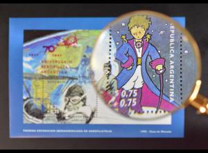 Argentinien 1997 Block 60 mit Aufdruck 70 Jahre Gründung Luftpostgesellschaft