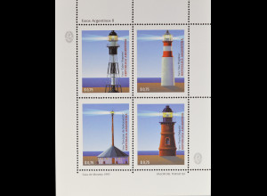 Argentinien Argentina 1997 Michel Nr. 2351-54 Leuchttürme Cabo Virgenes